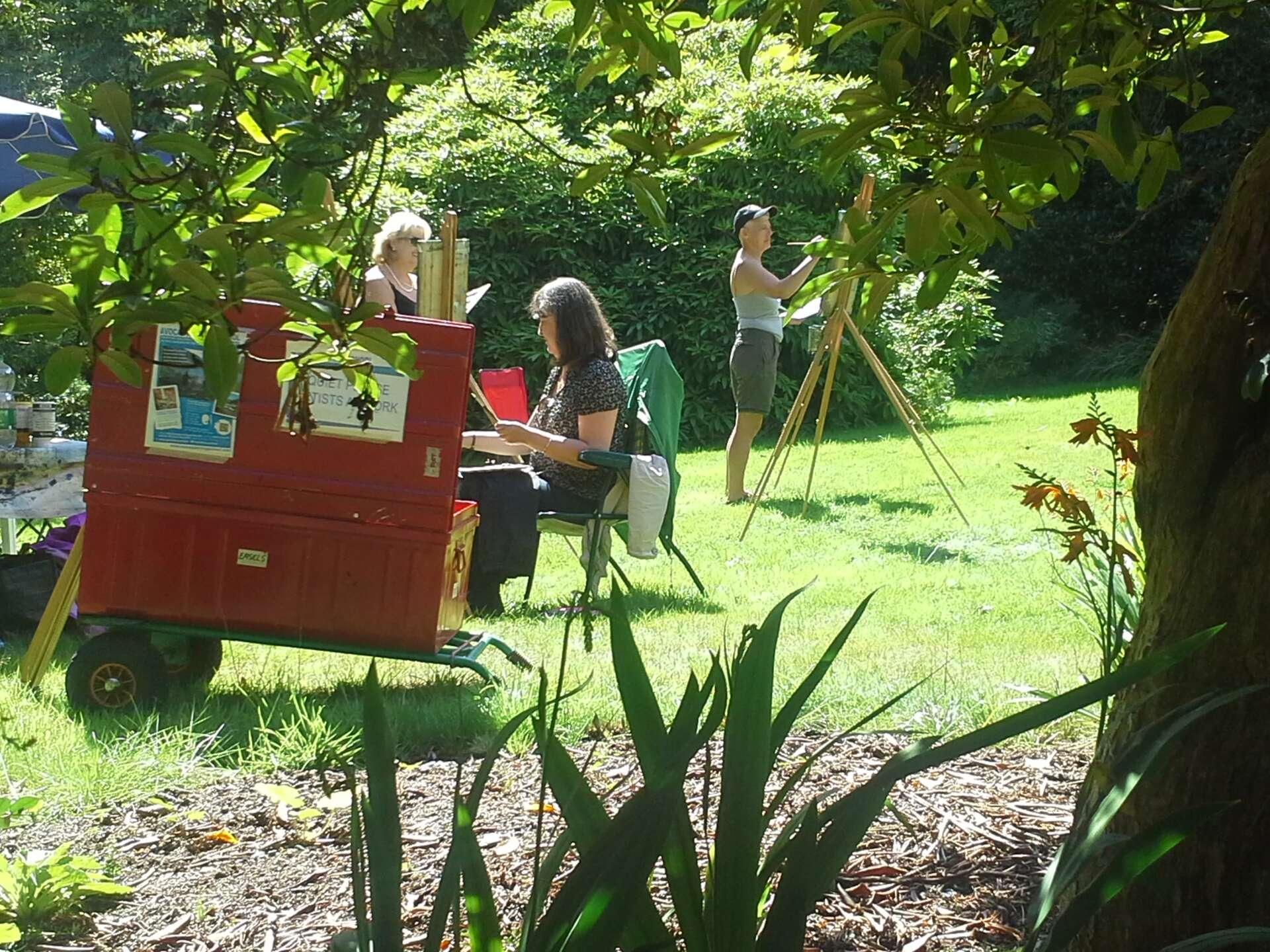 Painting Workshop #1at Kilmacurragh Gardens