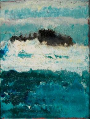 artist rod coyne's painting, titled pilgrim's dream