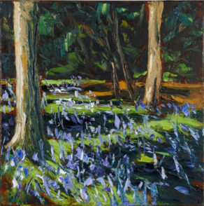 crazy dancing bluebells, a painting by artist rod coyne