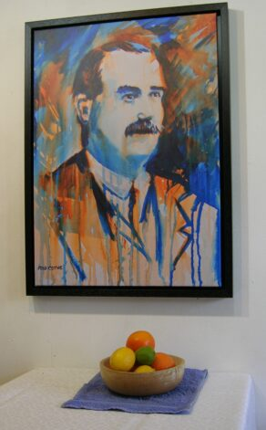 1916 James Connolly print with still life.