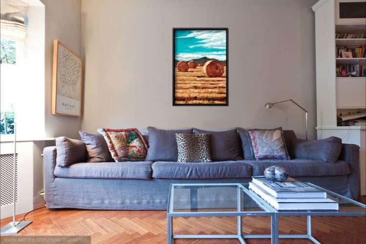 September Harvest canvas print interior display.