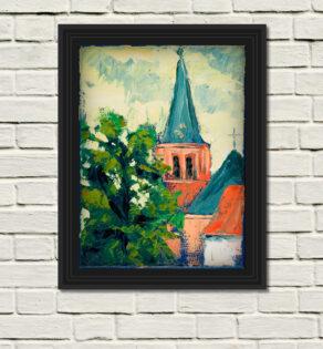 Mondrians-church_-black-frame-white-wall