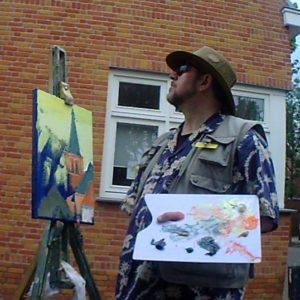 2014 Rod Coyne painter Mondrian church