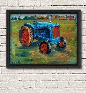 "artist rod coyne's ""fordson major"" painting reproduced a a canvas print"