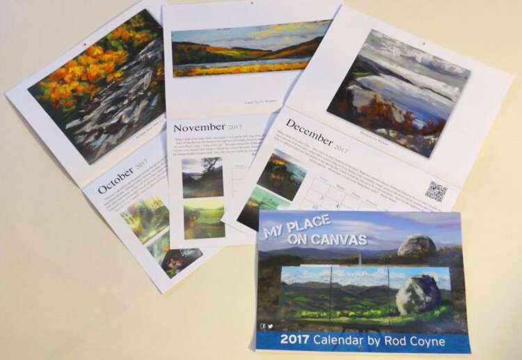 Three Calendars open pages October to December (and a fourth calendar closed).