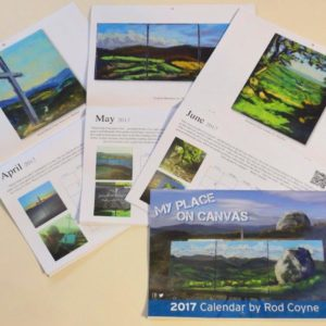 Three Calendars open pages April to June (and a fourth calendar closed).