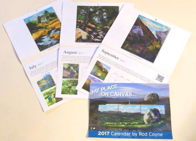 Three Calendars open pages July to September (and a fourth calendar closed).