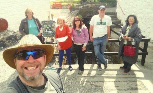 Painting holiday group at Avoca Handweavers.