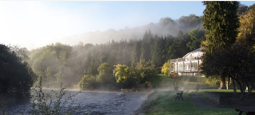 Meetings viewed from a misty Avoca River - Book your own Workshop Accommodation.