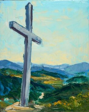 Miners Cross painting by Rod Coyne.