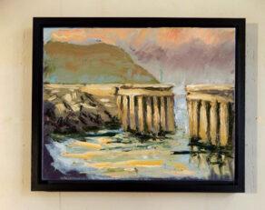 Greystones Harbour framed canvas print.