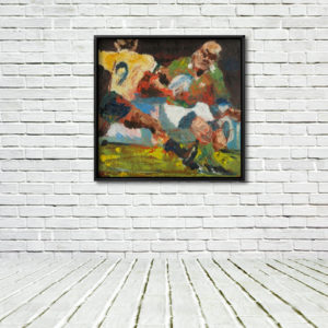 "Keith Wood ""Takes Two to Tango"" Framed Print on Wall with Floor."