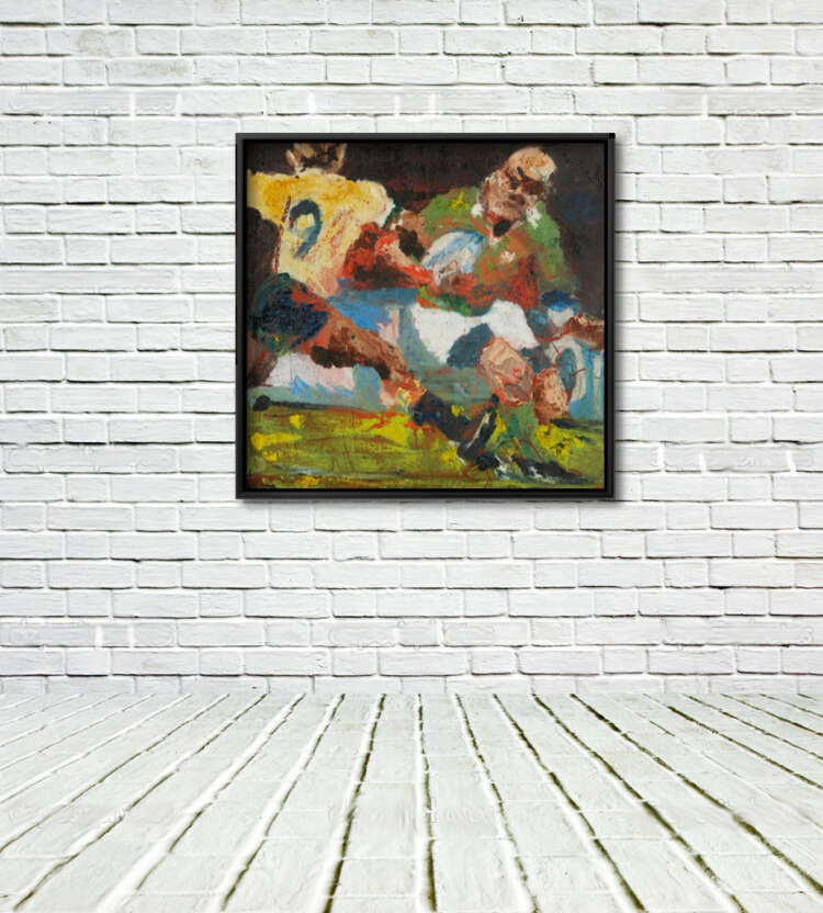 """Keith Wood """"Takes Two to Tango"""" Framed Print on Wall with Floor."""