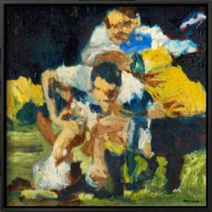 Martin Johnson, Crash Ball; the framed canvas print.