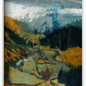 """ Pilgrims Way, Wicklow Gap "" in a white frame."