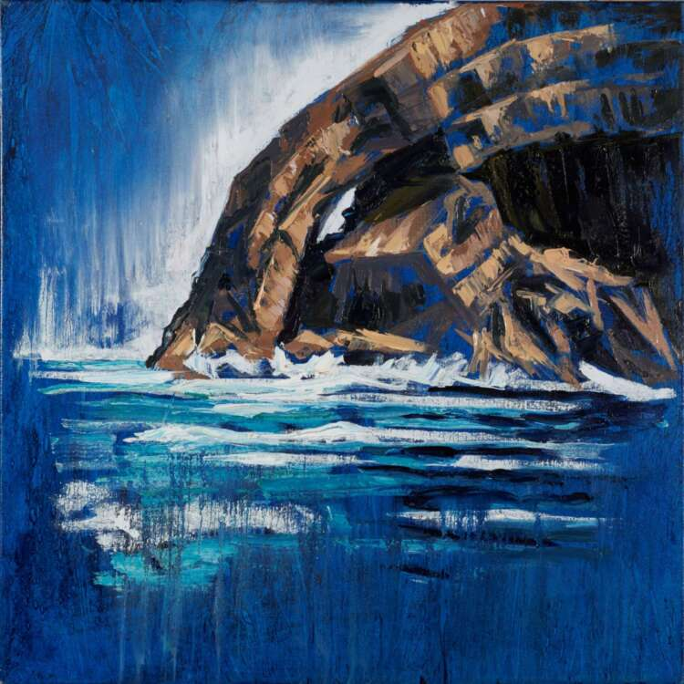 Skellig Arch painting by rod coyne