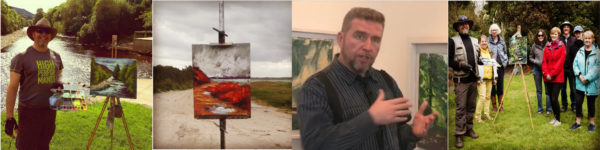 "Four images in 0ne showing Rod Coyne in his various roles as ""Owner, Manager, Resident Artist & Facilitator."""