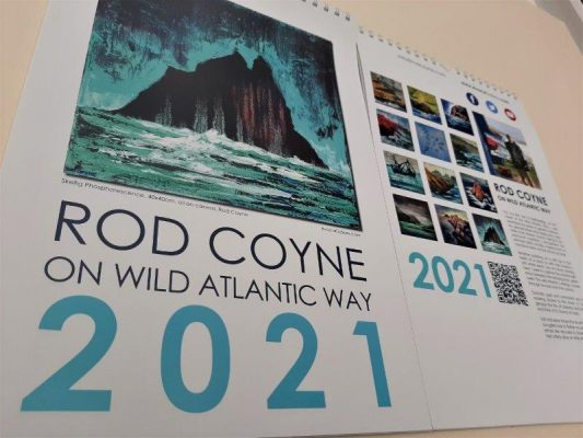 2021 Calendar cover & reverse page, showing images, the artist his work and statement.
