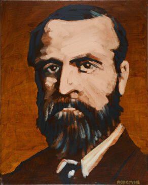 image of a painted portrat of Charles Stuart Parnell by artist rod coyne