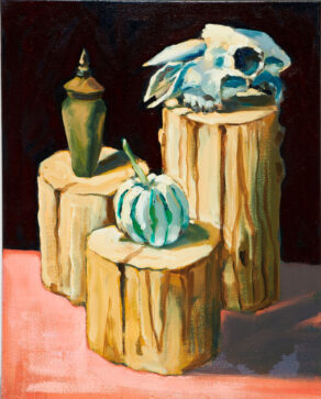 Sheep Skull Still Life painting by rod coyne