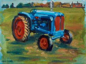 artist rod coyne's painting: fordson major