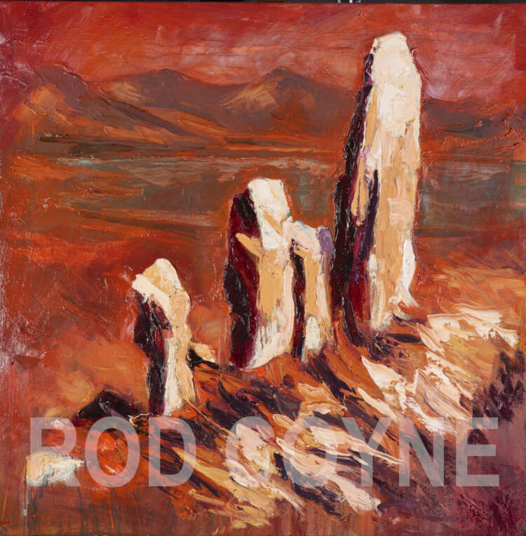 """artist rod coyne's painting """"moon stone mirage"""" is shown here with a watermark."""