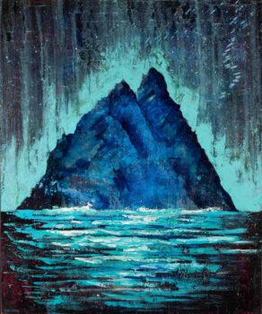 artist rod coyne's painting Skellig Phospheresence is shown here