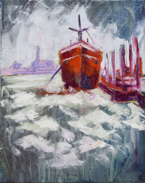 "artist rod coyne's ""hot hull"" painting is shown here"
