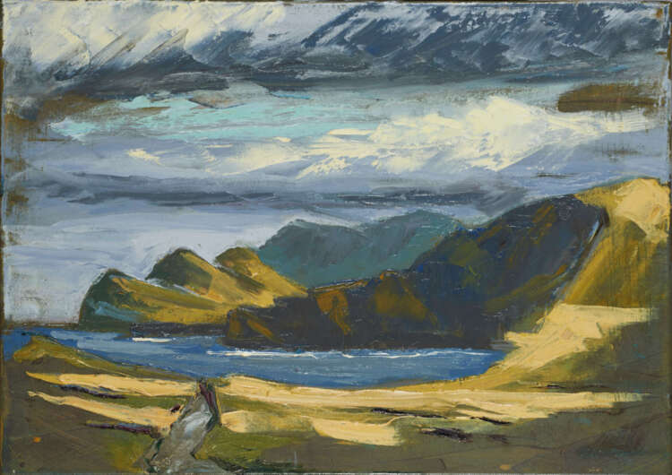 """artist rod coyne's painting """"three sisters"""" is shown here"""
