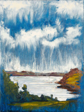 "artist rod coyne's painting ""Cornwall, River Fal"" is shown here"