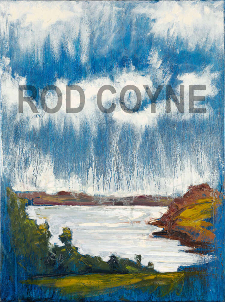 """artist rod coyne's painting """"Cornwall, River Fal"""" is shown here, watermarked"""