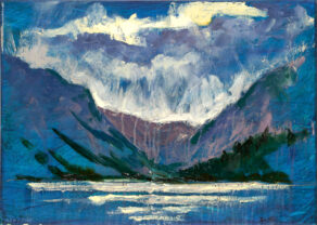 """artist rod coyne's painting """"glendalough, upper lake"""" is shown here"""