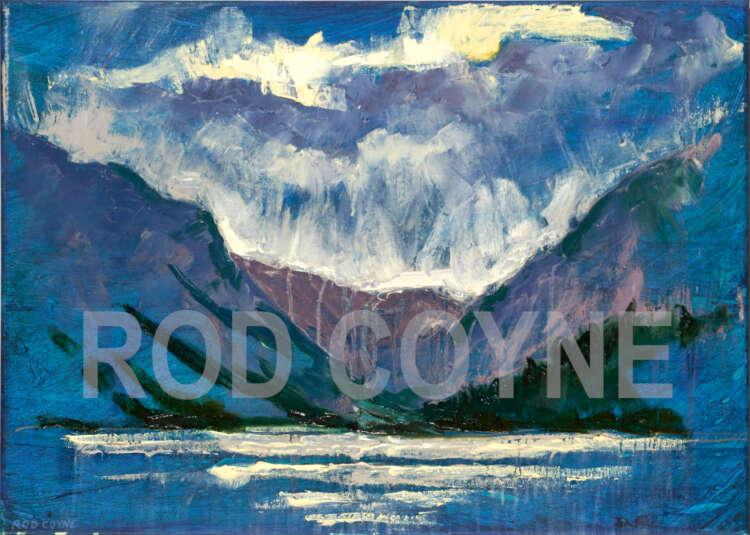 "artist rod coyne's painting ""glendalough, upper lake"" is shown here, watermarked"