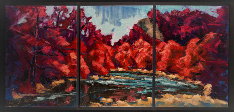 artist rod coyne's triptych painting is shown here.