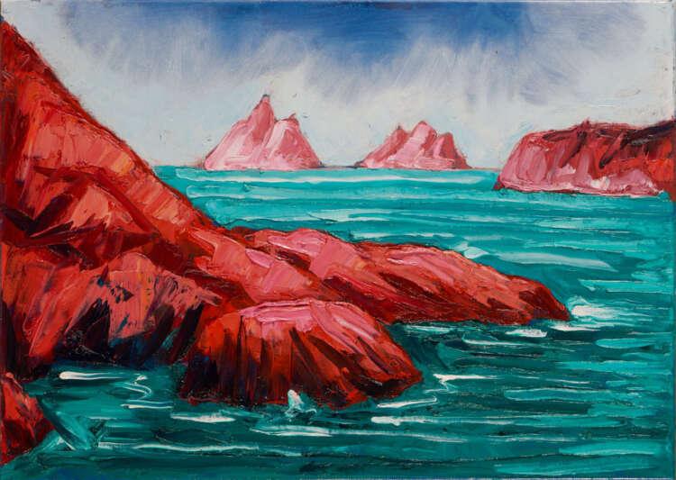 """artist rod coyne's painting """"Hogs Head, Bolus & Skelligs"""" is shown here"""