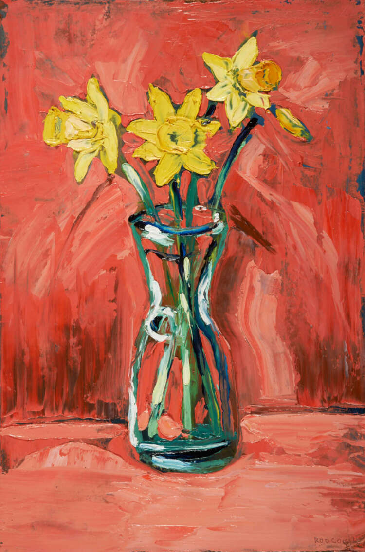 """artist rod coyne's still life painting """"daffodils"""" is shown here."""