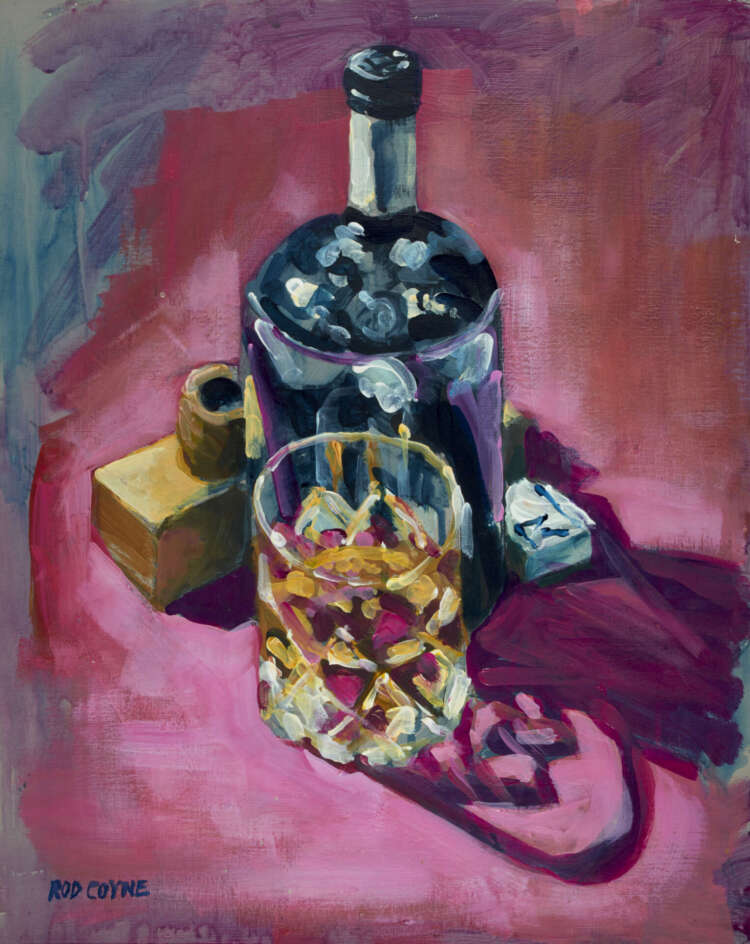 """artist rod coyne's still life painting """"ultimate fathers day"""" is shown here."""