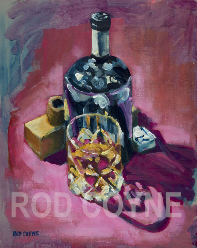 """artist rod coyne's still life painting """"ultimate fathers day"""" is shown here, watermarked."""