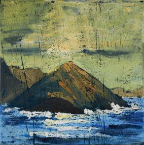 """artist rod coyne's seascape """"sulphur rising"""" is shown here."""
