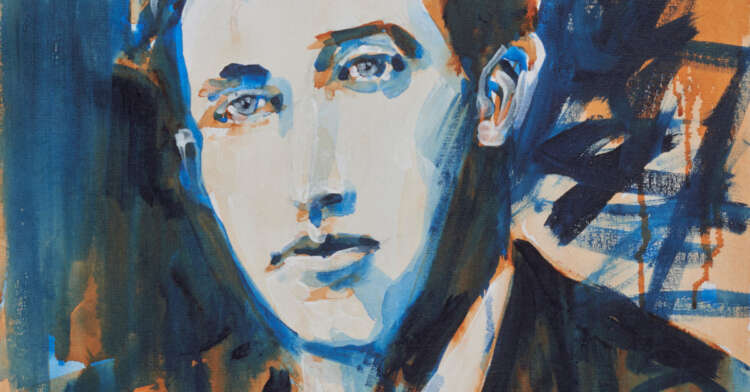 """artist rod coyne's portrait """"Thomas McDonagh 1916"""" is shown here, cropped forfacebook."""