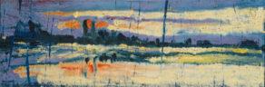 """artist rod coyne's seascape """"dublin dusk"""" is shown here."""