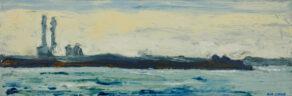"artist rod coyne's seascape ""across scottsmans bay"" is shown here."
