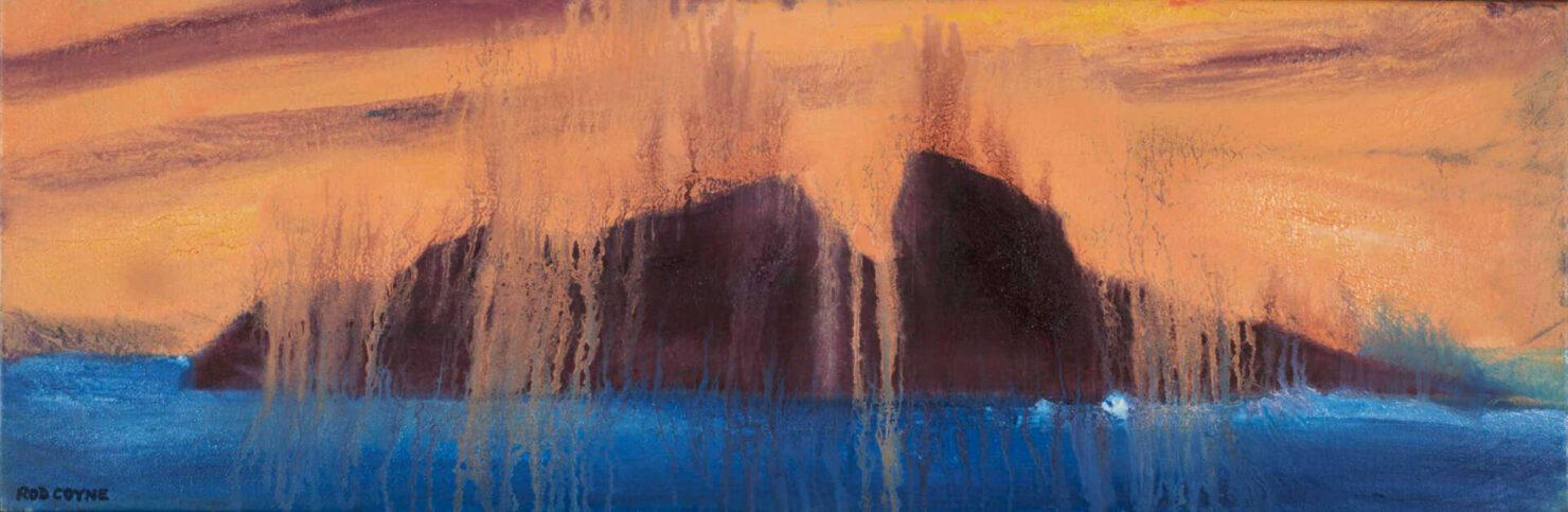 "artist rod coyne's seascape ""puffin meltdown"" is shown here."