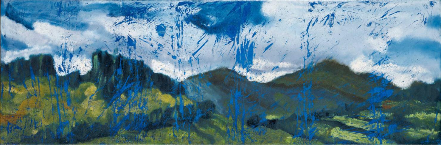 "artist rod coyne's landscape ""Wicklow Hills"" is shown here."