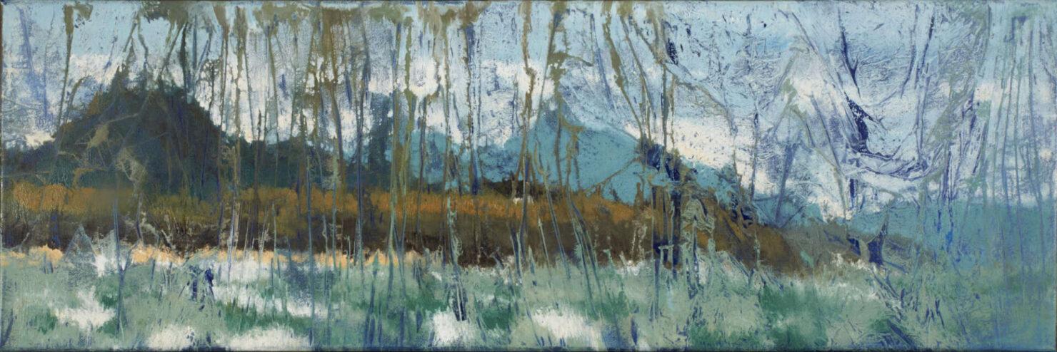 """artist rod coyne's seascape """"st. patrick's landing"""" is shown here."""