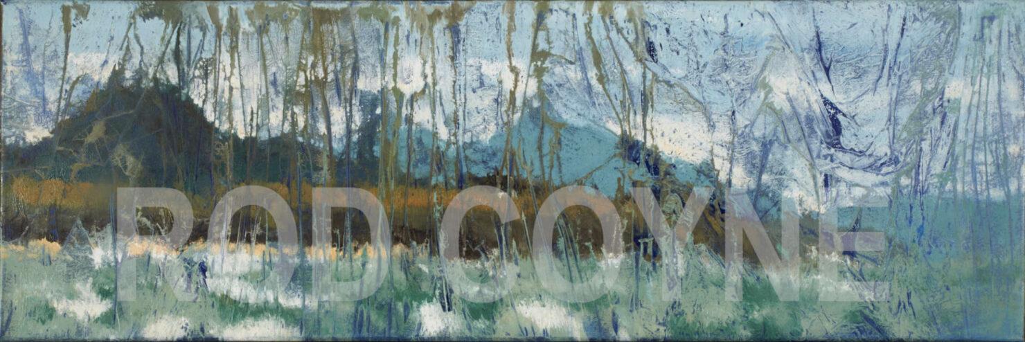 "artist rod coyne's seascape ""st. patrick's landing"" is shown here watermarked."
