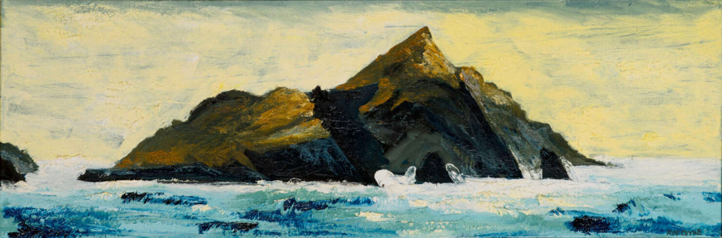 """artist rod coyne's seascape """"Puffin Tailwind"""" is shown here."""