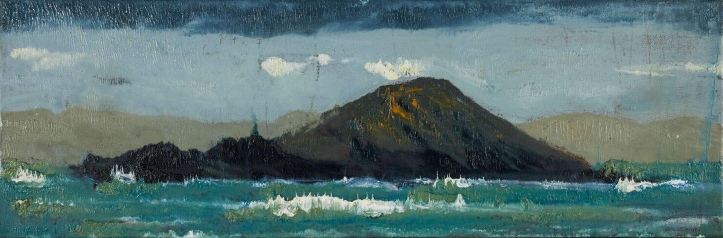 "artist rod coyne's seascape ""deenish island"" is shown here."
