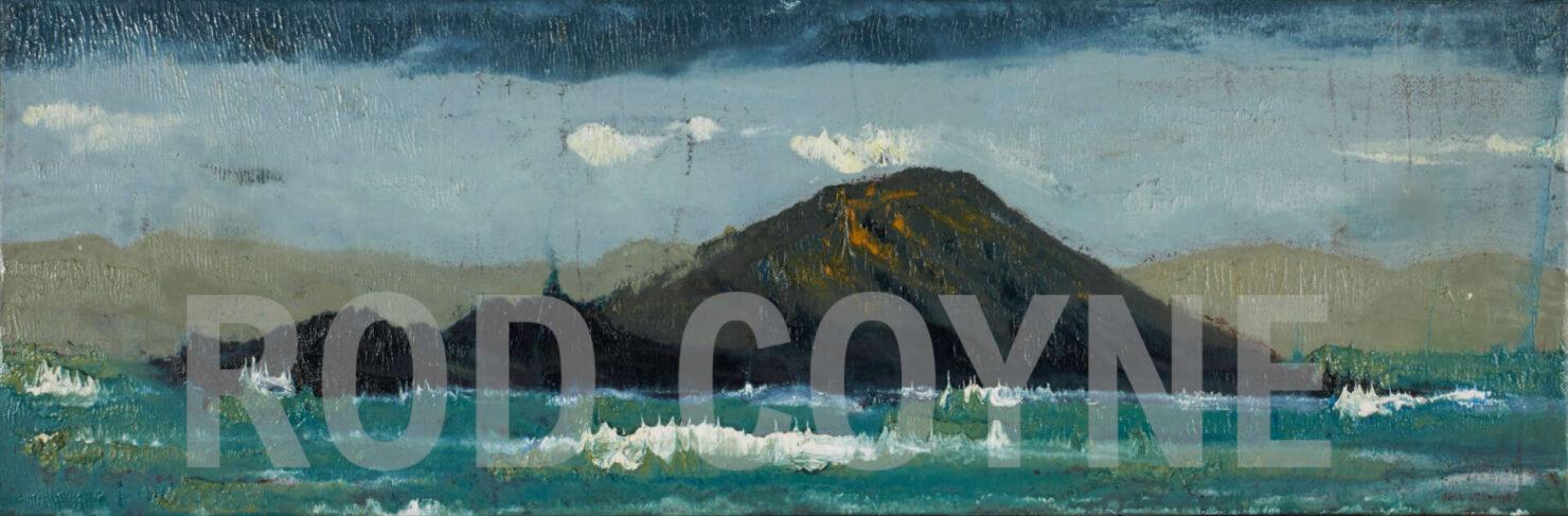 """artist rod coyne's seascape """"deenish island"""" is shown here watermarked."""