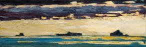 "artist rod coyne's landscape ""Atlantic Islands"" is shown here."